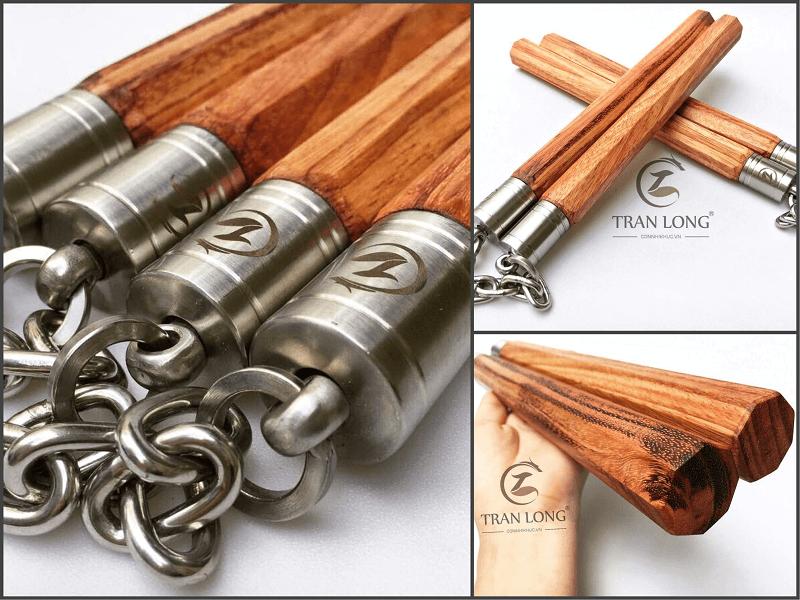 Côn nhị khúc gỗ Lim