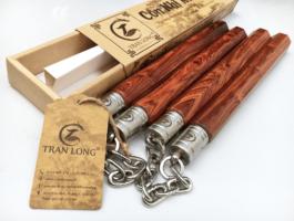 côn nhị khúc gỗ trắc dây dây xích