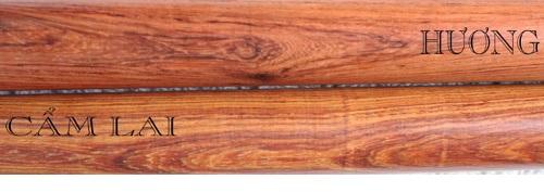 gỗ câm lai với gỗ hương